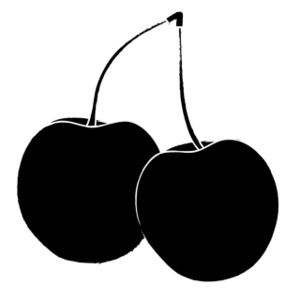 clip art black and white | Cherries Clipart Image - Two ...