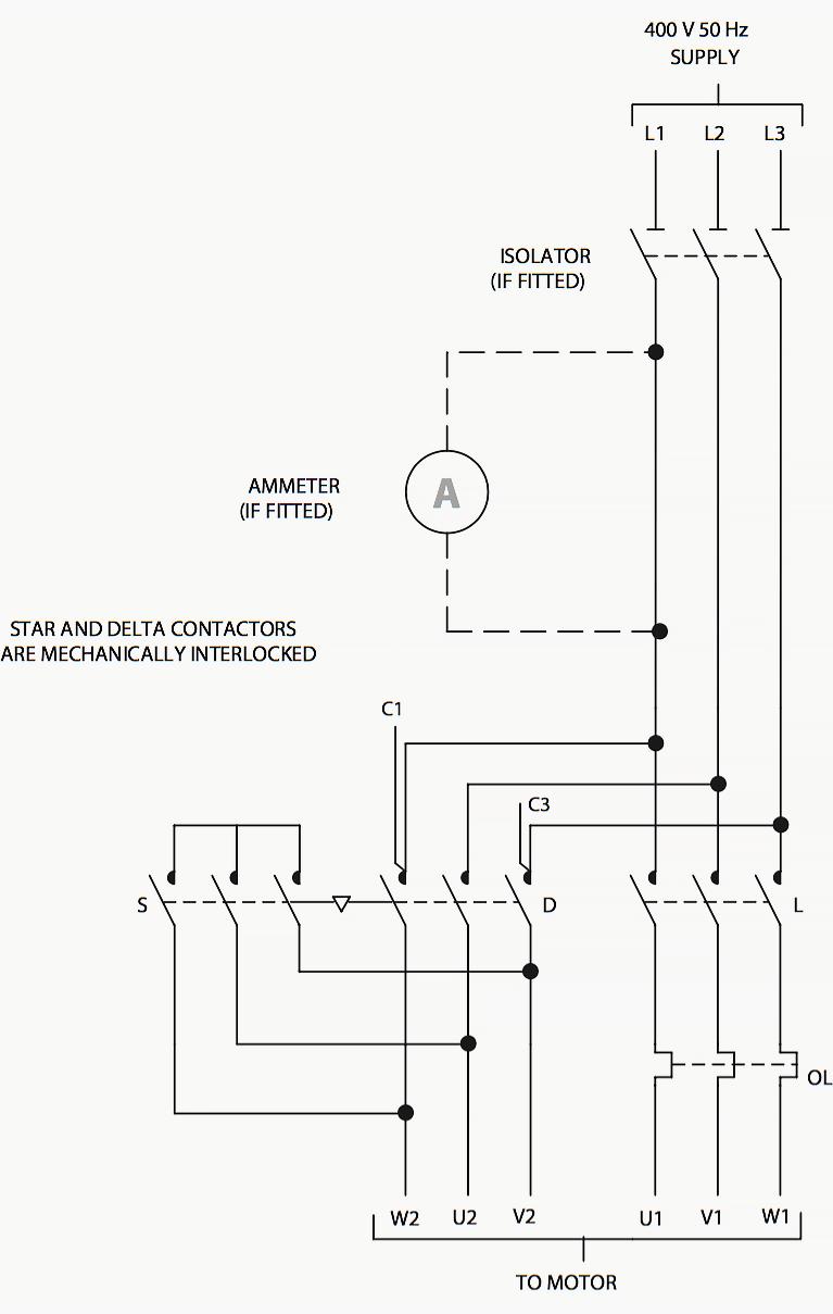 Star Delta Starter Wiring Diagram