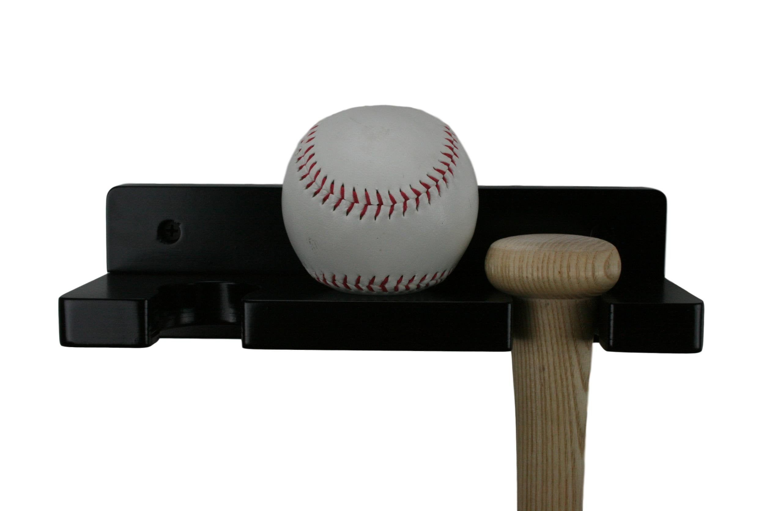Alpha Routers Hand Finished Solid Wood Wall Mounted Baseball Bat Holder//Display Rack