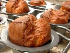 Living Without - Gluten-Free, Dairy-Free Basic Popovers - Popovers may not come to mind when thinking of bread, but they are much like a dinner roll. They can be filled to make a sandwich, and they satisfy a craving for something crispy. To guarantee success, keep all your ingredients at room temperature and heat the popover pan before filling it with batter.