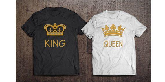 74d2400ecf1b4a Camisas camisas parejas de Rey Reina rey y reina por Tees2peace ...