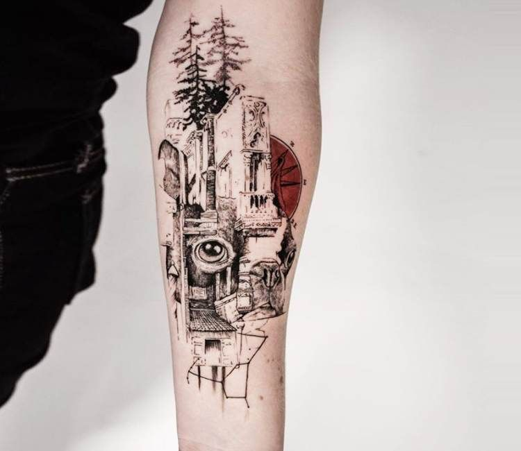Abstract Tattoo By Koit Tattoo Post 20049 Third Eye Tattoos Abstract Tattoo Abstract Art Tattoo