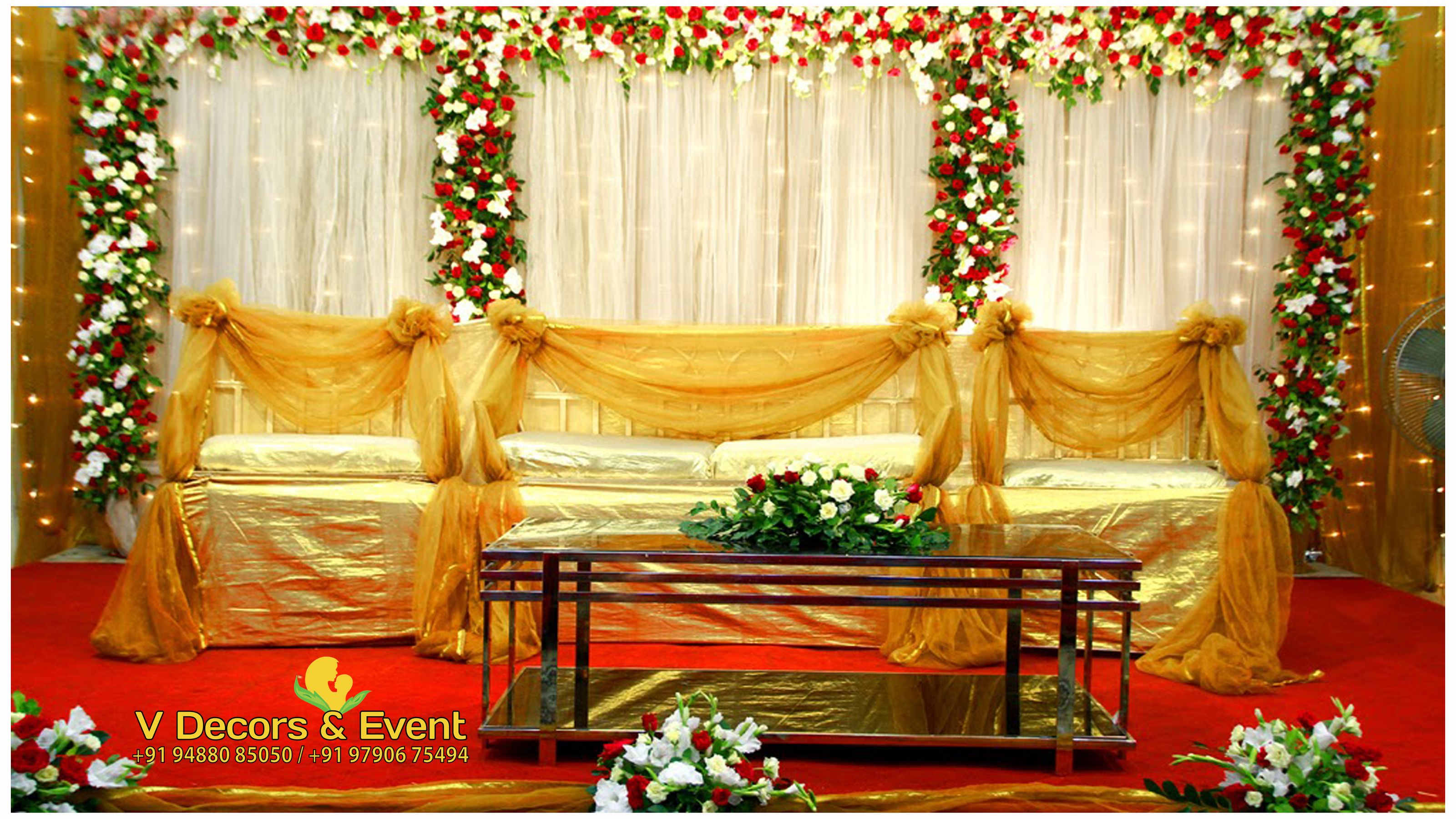 Pin by Vinay on Reception Decorations in Chennai | Stage ...