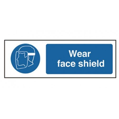 Wear Face Shield Safety Sign Design Technology Equipment Supplier Face Shield Face Sign Design