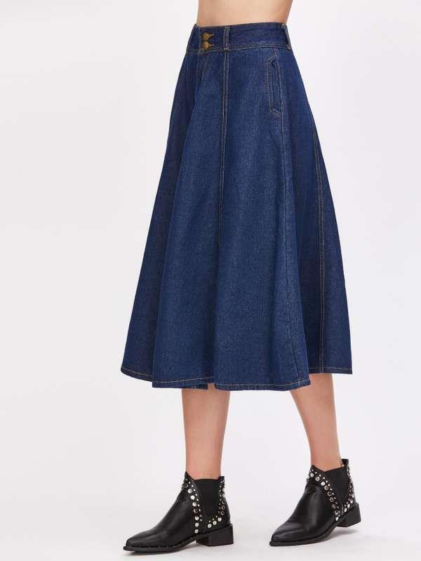 1980c3e21 Plain Blue Skirt | Shorts and Skirts | Blue denim skirt, Denim skirt ...