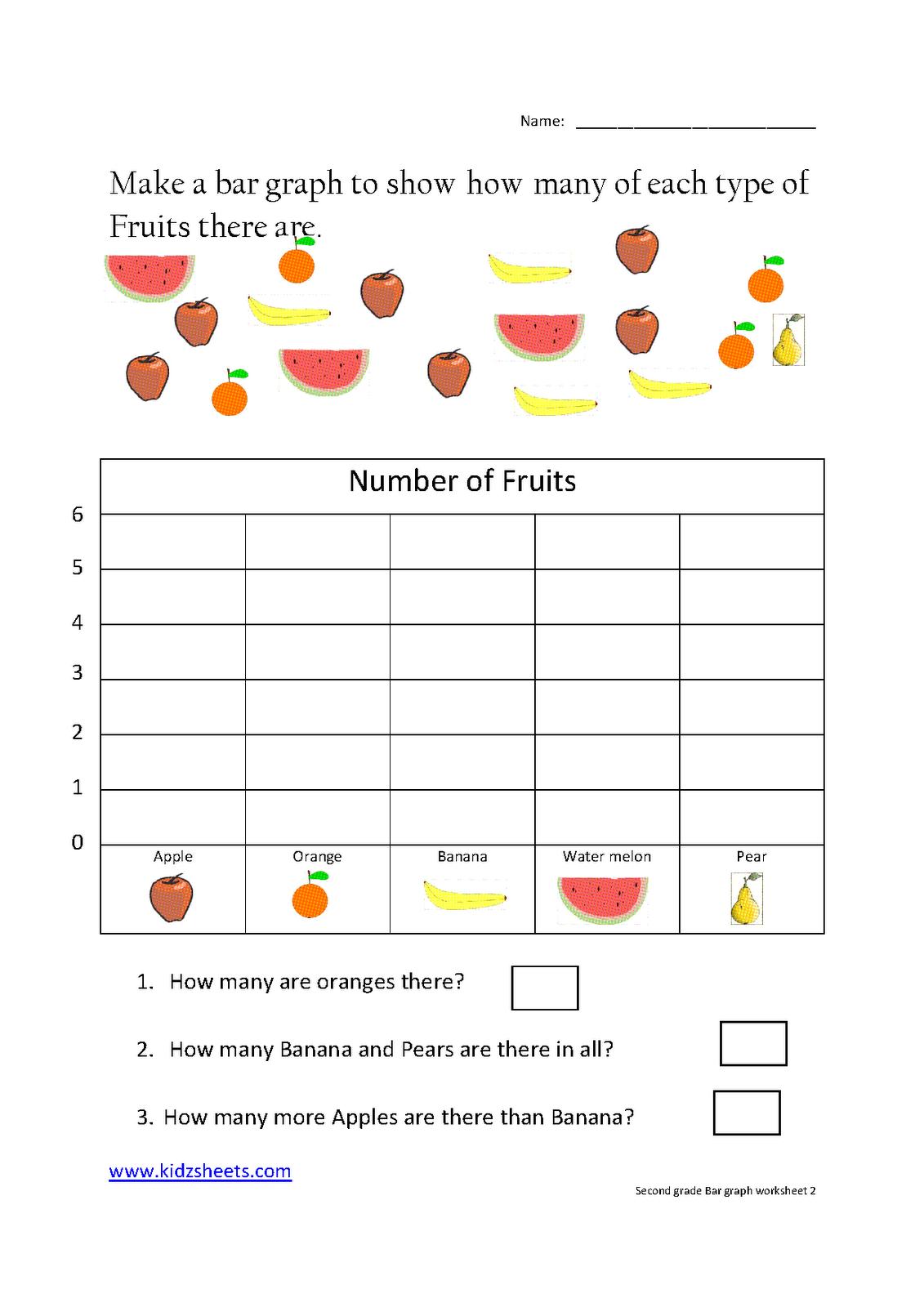 small resolution of Second Grade Bar Graph   Kids math worksheets