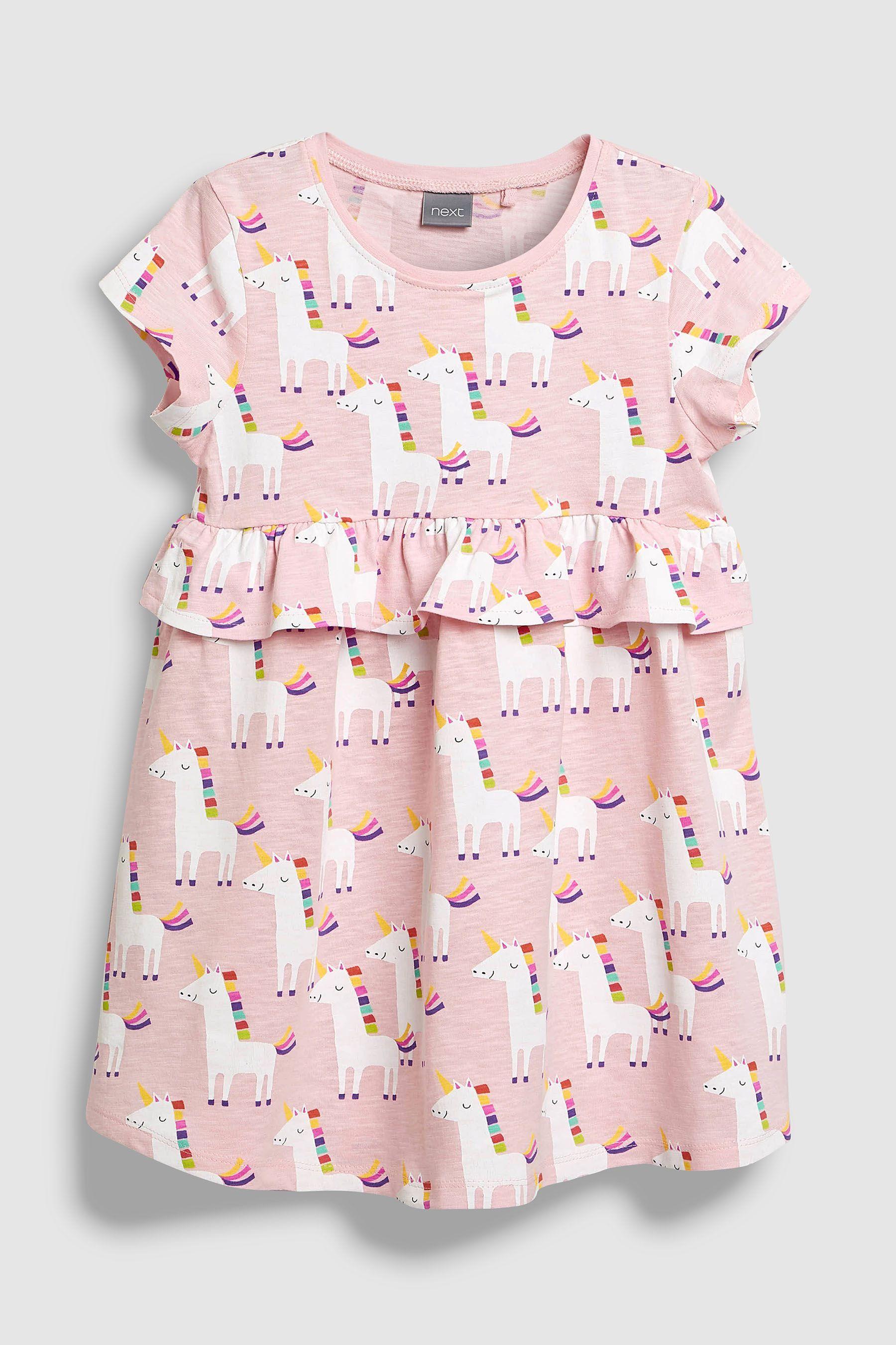b421d084086f Girls Next Pink Unicorn Print Dress (3mths-6yrs) - Pink | Products ...