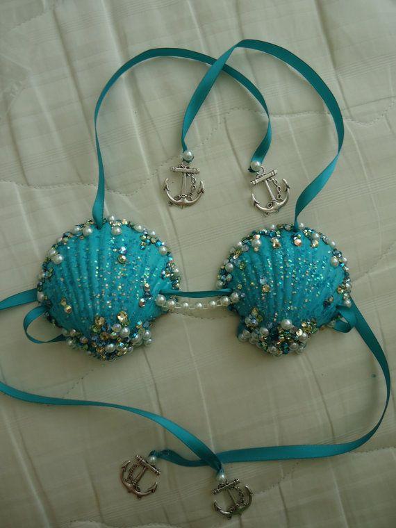 d9b99c2abe Items similar to Custom Mermaid Shell Bra for Baby on Etsy