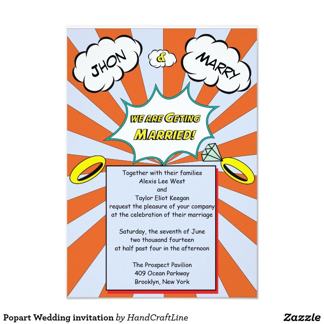 Popart Wedding invitation | Pinterest | Wedding and Wedding