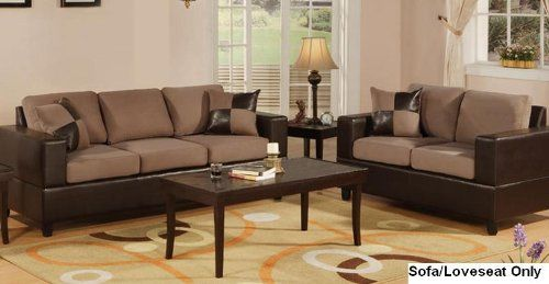 Seattle 2 Pcs Sofa And Loveseat Living Room Set In Chocol... Http