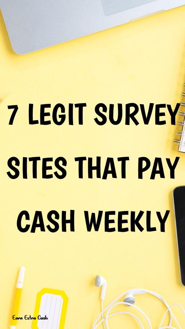 7 Legit Survey Sites That Pay Cash Weekly.. best