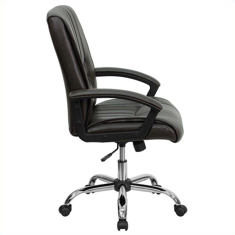 Flash Furniture Mid Back Managers Office Chair In Espresso Brown Office Chair Ideas Of Office Chair Officechair Chair Office Brown Leather Office Chair Shabby Chic Table Chairs Chair