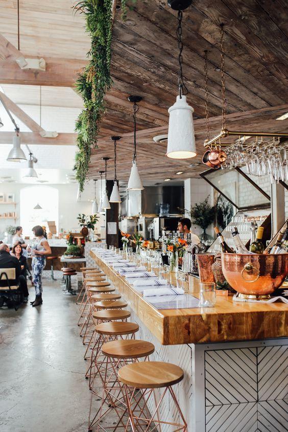 The Butcher S Daughter Best Vegan Restaurant La Restaurant Interior Restaurant Interior Design Restaurant Design