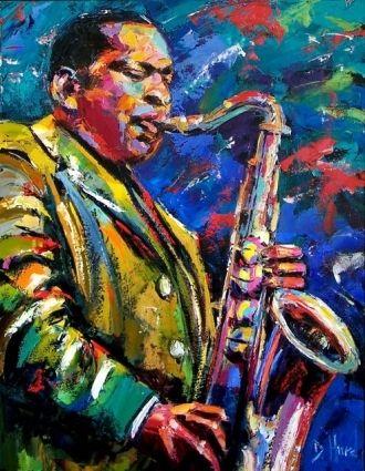 John Coltrane Original art painting by Debra Hurd ...