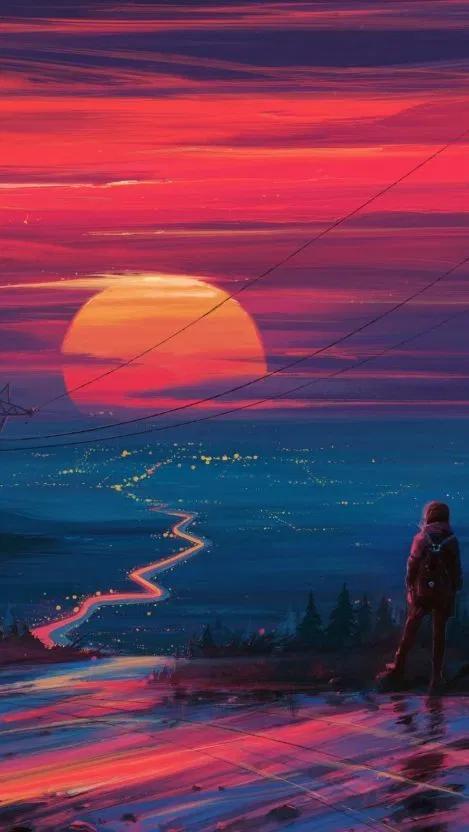 Chasing Sun Wallpaper
