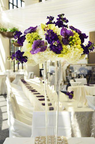White Champagne And Purple Colors At Oak Ridge Decor By FestivitiesMN