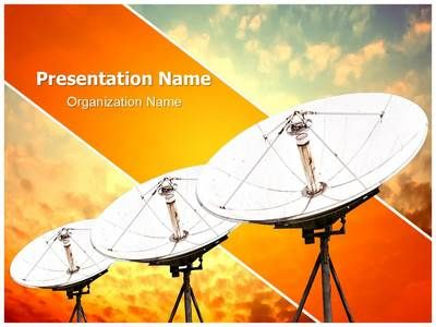 Satellite Antennas Powerpoint Template Is One Of The Best