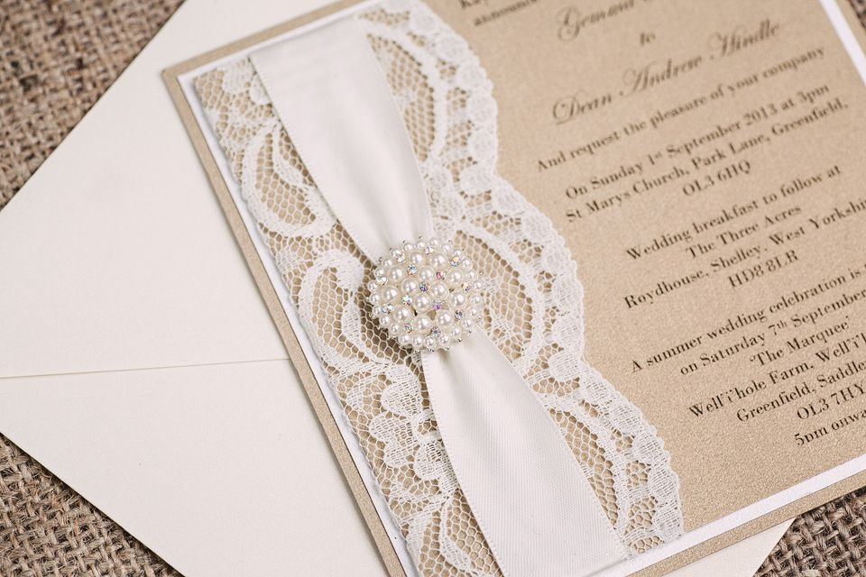 Love the rustic lace