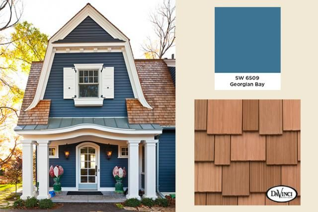 exterior color trends 2014 georgian bay with new cedar shake home