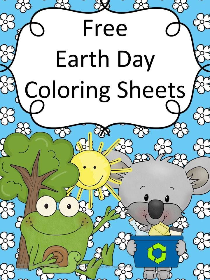 Free Earth Day Coloring Sheets for Preschool or Kindergarten   Pre ...