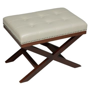 Cortesi Home Cortesi Home Kayla X Bench Ottoman | living room ...