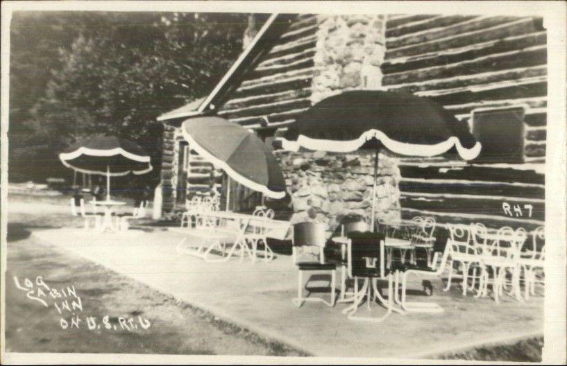 Wellsboro Pa Log Cabin Inn Route 6 Real Photo Postcard Photo Postcards Wellsboro Real Photos