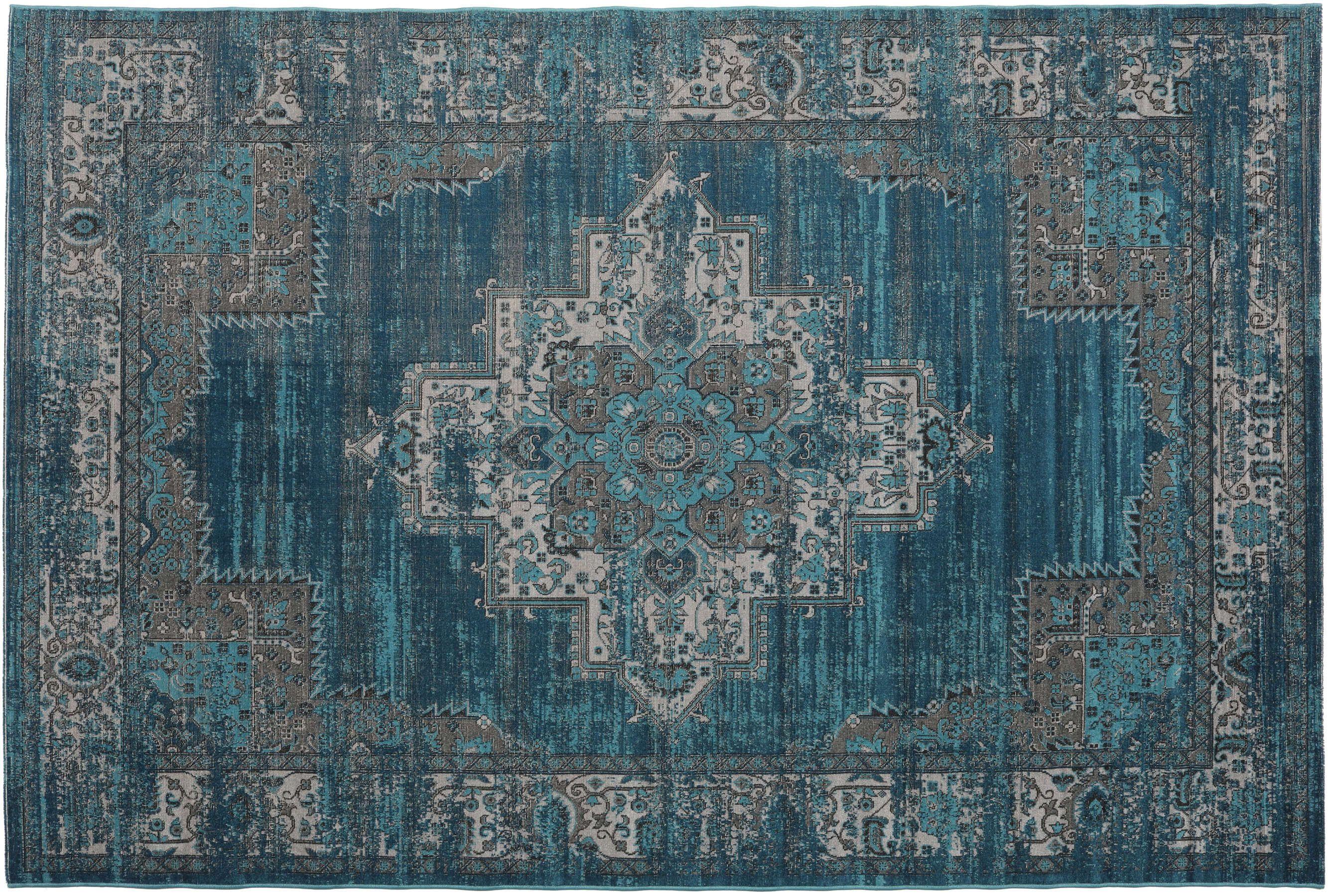 Tapijt Petrol Blauw : Kayoom vloerkleed etna petrol mijn karpet vloerkleden