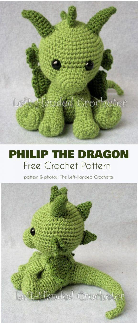 Philip the Dragon Free Crochet Pattern – häkeln