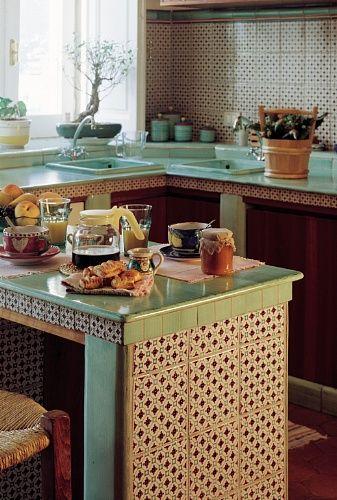 rivestimenti-cucina-cotto-quadrato-interni-ceramica-di-vietri ... - Ceramica Cucina