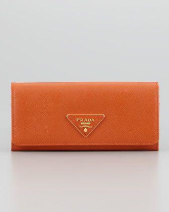 858662b669e1 Saffiano Triangle Continental Flap Wallet