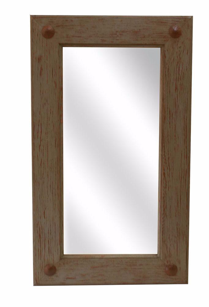 Loft Gray Mirror Wood Mexican 20x34 Rustic Distressed