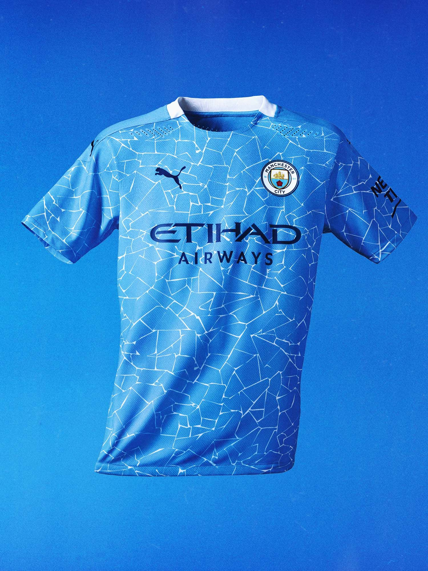Puma Launch Manchester City 20 21 Home Shirt Soccerbible In 2021 Manchester City Man City New Kit Manchester City Wallpaper