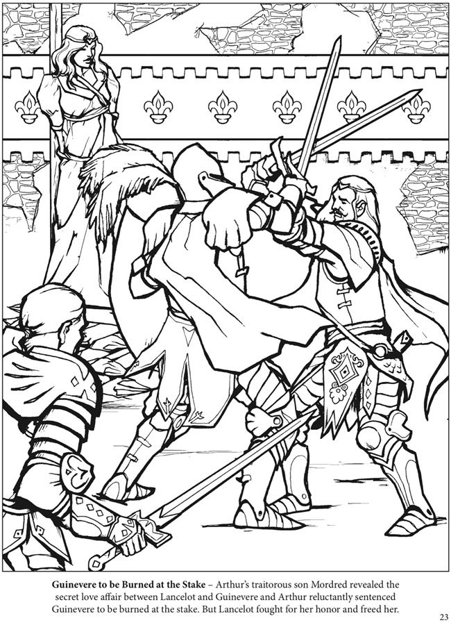 The adventures of king arthur coloring book dover for Arthur coloring pages
