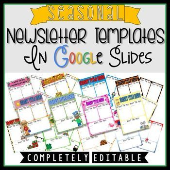 Digital Newsletter Templates In Google Slides Google Interactive - Newsletter templates google docs
