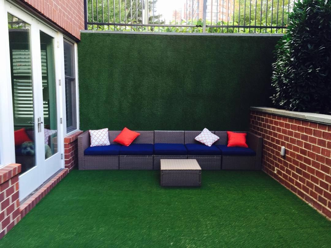 This Homeowner Had Synlawn Transform Their Concrete Patio Area