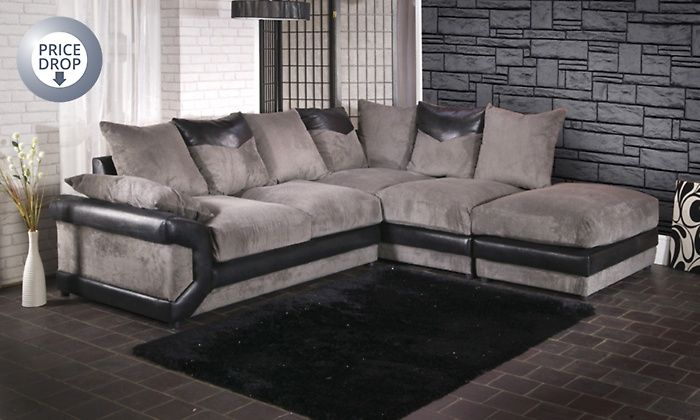 Rio Grande Corner Sofa With Matching Footstool In Choice Of Colour For 479 99 With Free Delivery 60 Off Big Corner Sofa Grey House Furniture Corner Sofa Uk