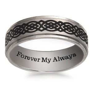 Make It Your Own With A Sweet Message On This Engravable Men S Wedding Band Titanium Wedding Band Mens Mens Wedding Rings Engraved Engraved Wedding Rings