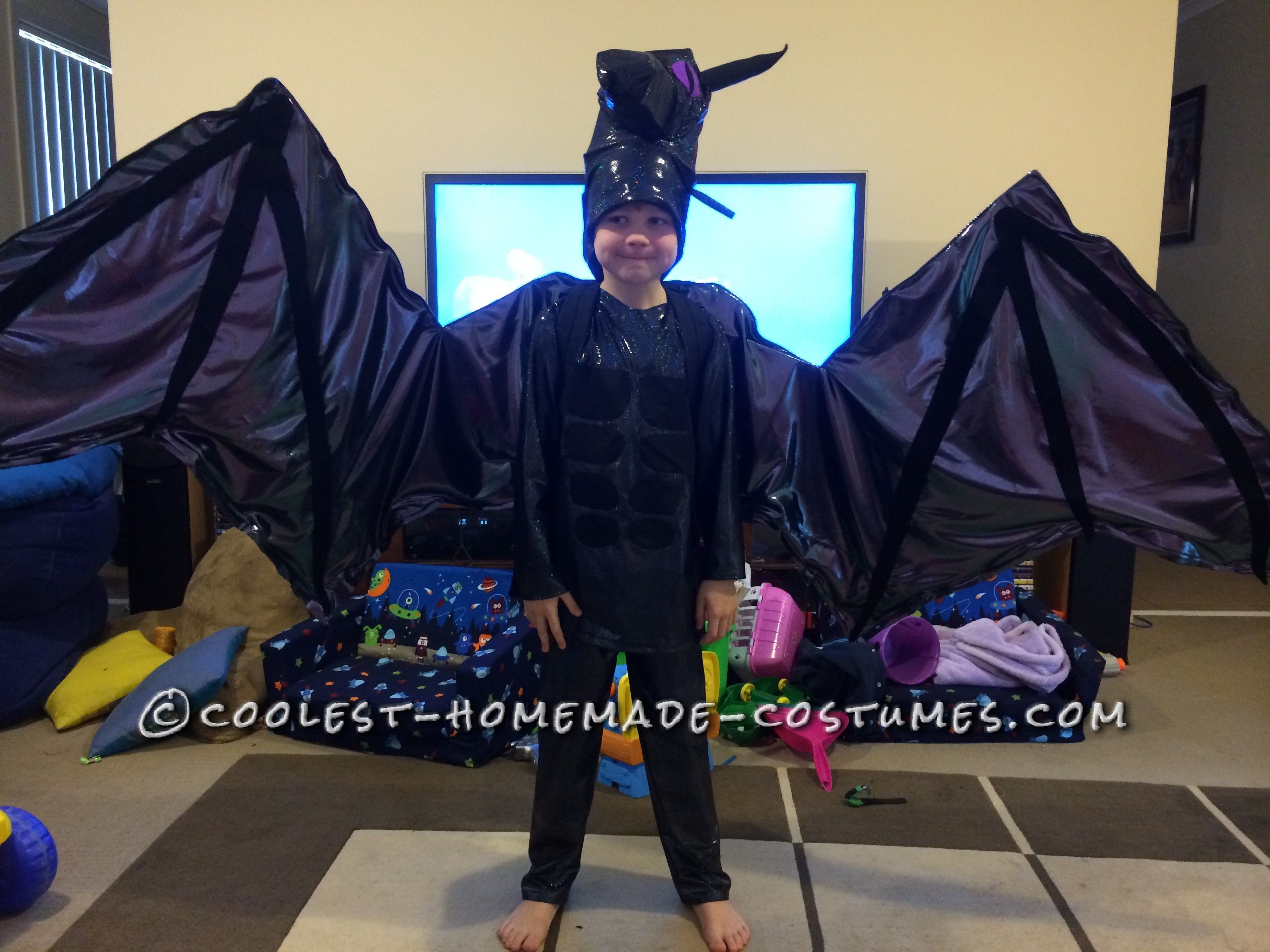 Coolest Minecraft Ender Dragon Costume with Articulated Wings ...