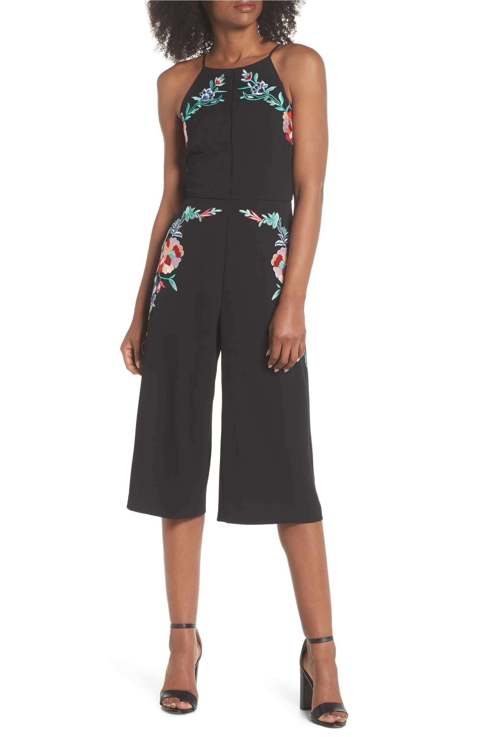 aeb50c1e3b5 Main Image - Adelyn Rae Veola Embroidered Jumpsuit