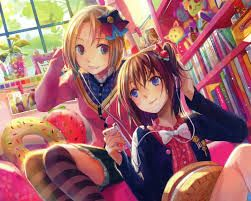 two girls that are BBF that are anime