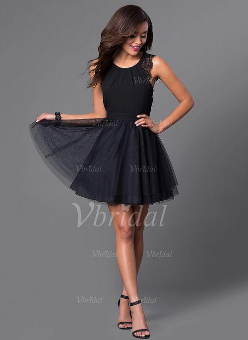 Kleid schwarz tull