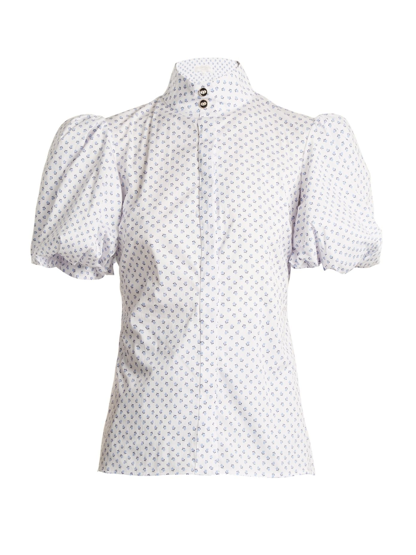 Jaqueline micro floral-print cotton shirt Caroline Constas Best Sale Sale Online Buy Cheap Reliable Big Discount Cheap Price BpQRcA