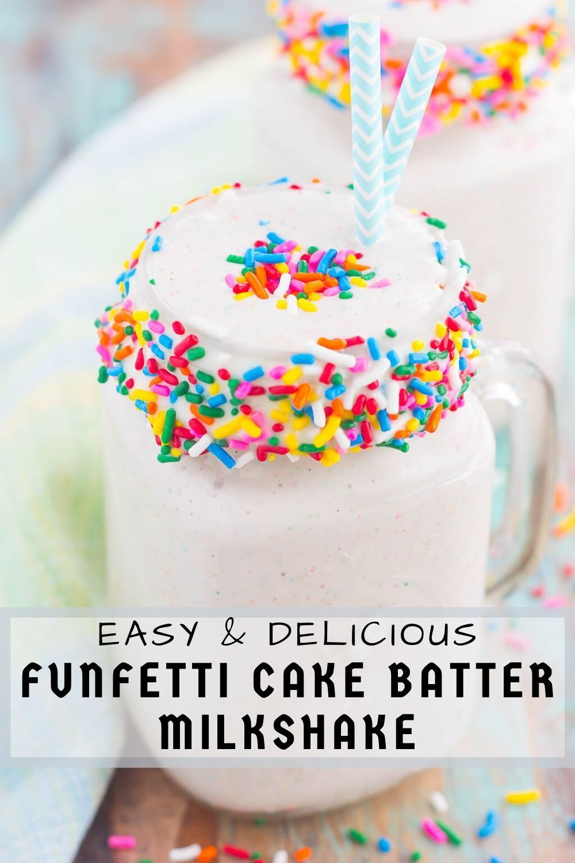 Funfetti cake batter milkshake in 2020 sonic cake cake
