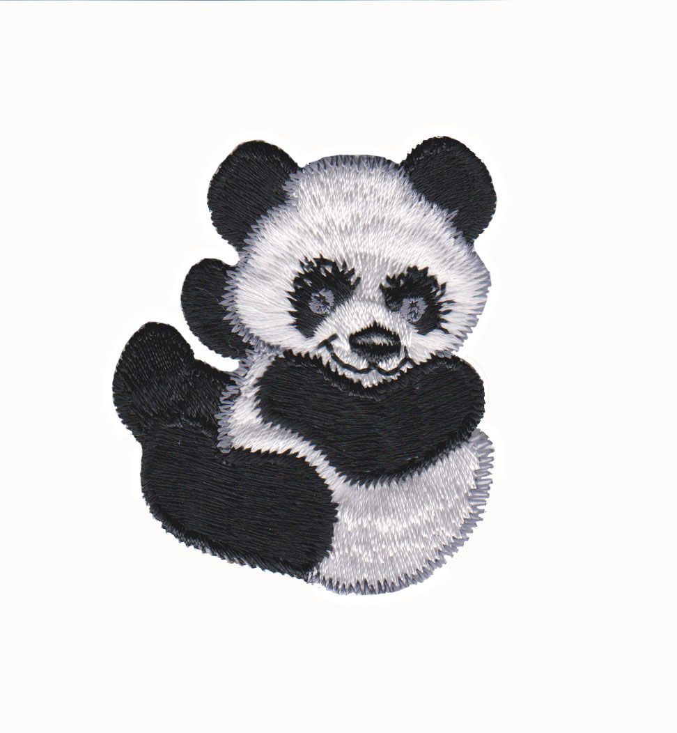 Panda Bear Baby Iron On Applique Baby Panda Bears Panda Bear Little Panda