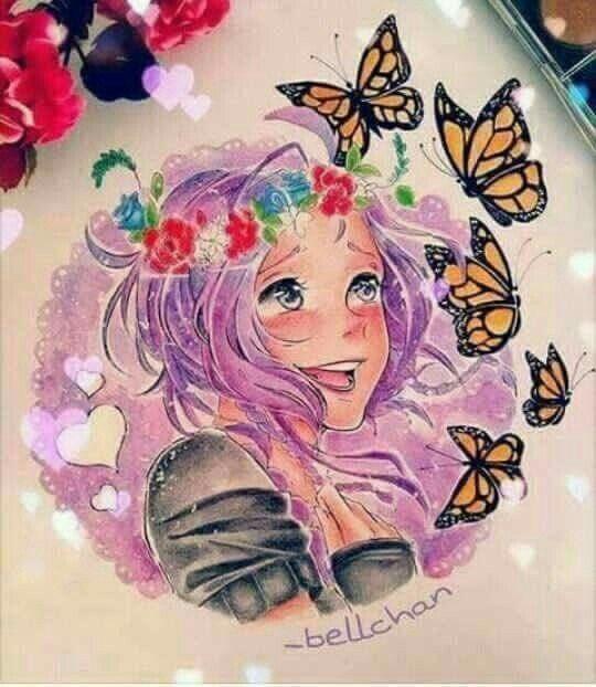 Violeta acuarela