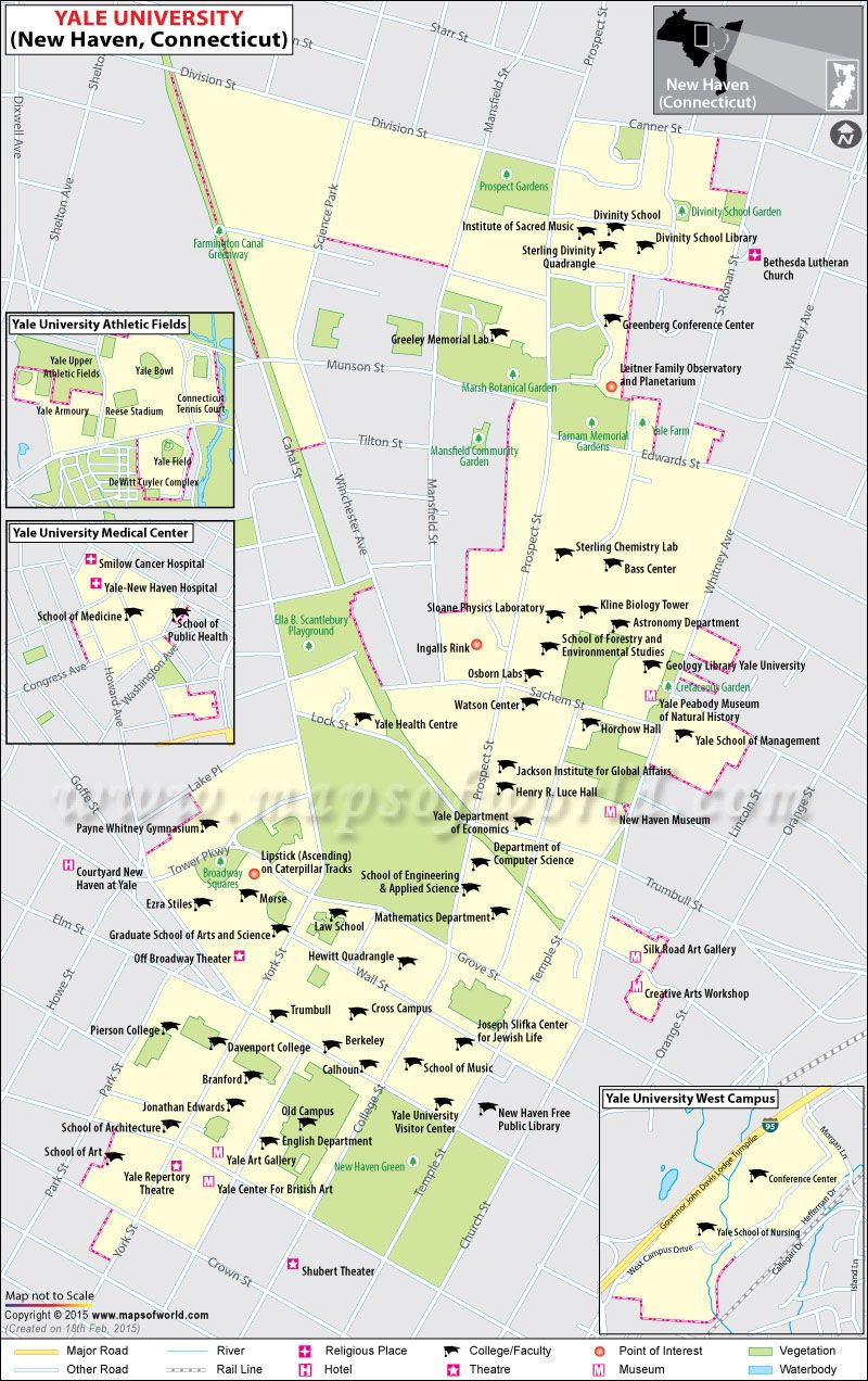 map of yale campus Map Of Yale University In New Haven Connecticut Usa Yale map of yale campus
