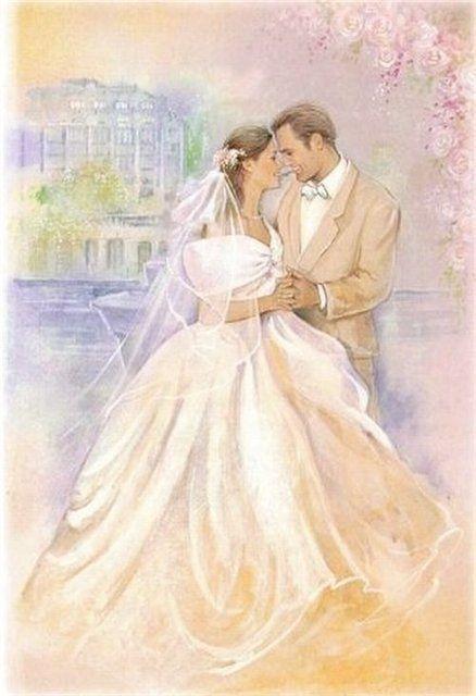 Винтажные открытки к свадьбе