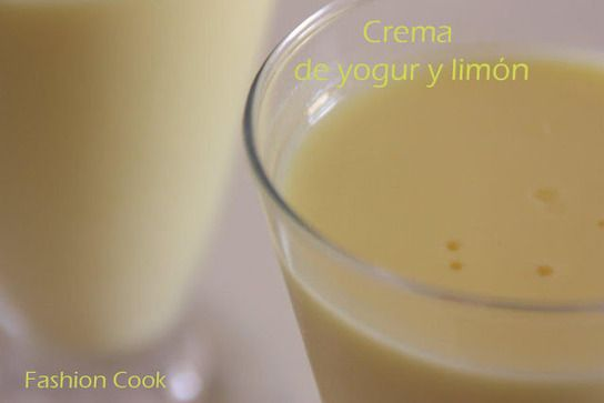 Fashion Cook: Crema de yogur y limón