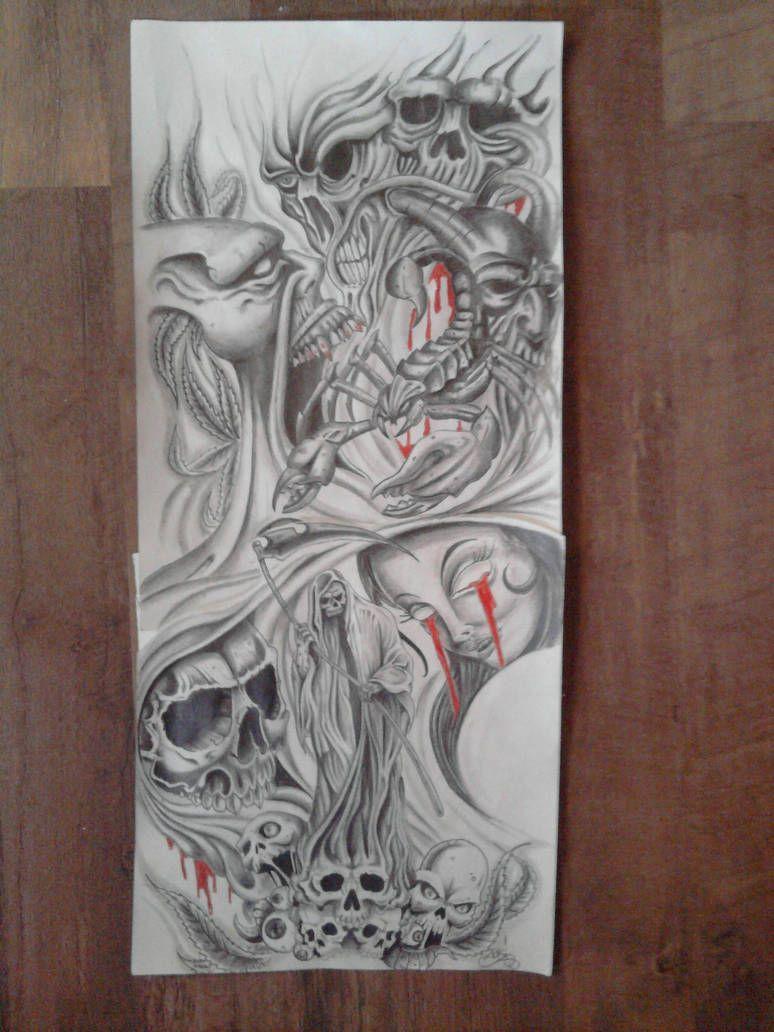 Sleeve Design By Karlinoboy Half Sleeve Tattoos Drawings Half Sleeve Tattoos Designs Tattoo Sleeve Designs