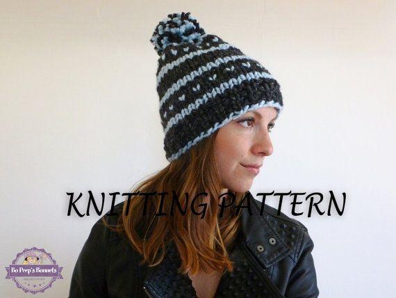 Knitting Pattern Fair Isle Beanie Pattern Ski Hat Pattern Pom Pom